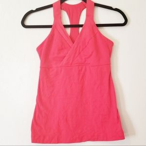 LULULEMON Racerback V-neck red tank top size 6
